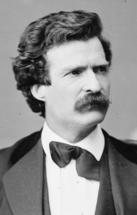 Photograph of Mark Twain in 1871, via Wikipedia